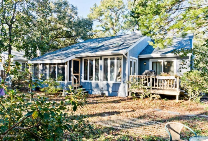 129 Hawthorne Drive Back Porch- Home for Sale in Pine Knoll Shores, NC