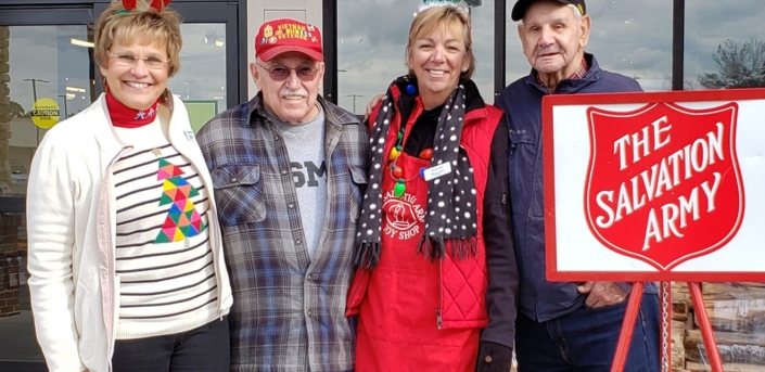 Lugean Hogan & Susan Pike of Bluewater Real Estate & The Star Team- Ringing the Bells for Salvation Army of the Carolina's at Lowe's Foods in Morehead City, NC
