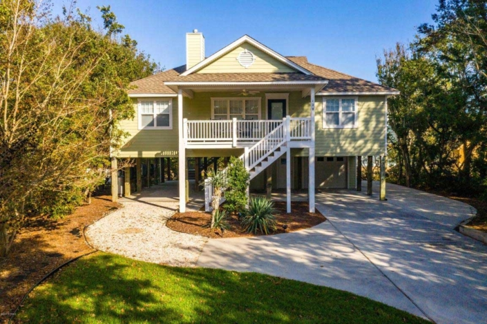 Exterior of 120 Sea Dunes Drive- Emerald Isle Home for Sale