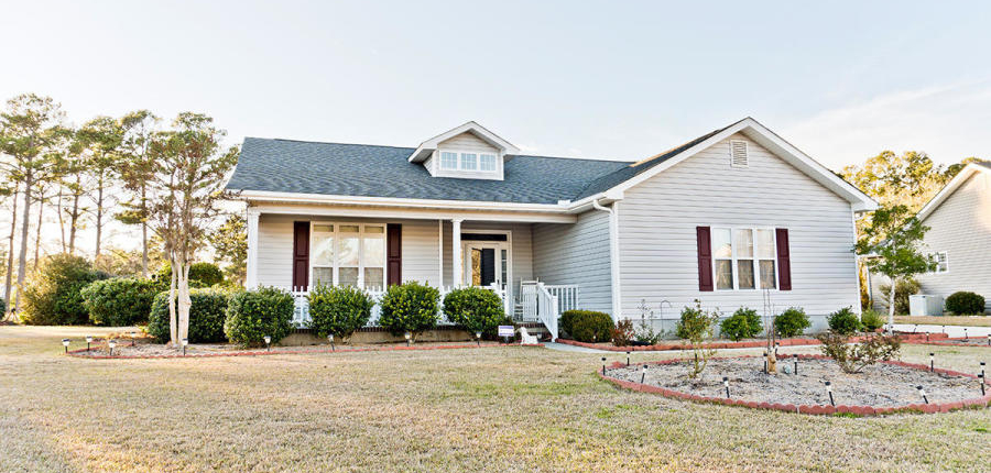 Home For Sale in Morehead City at 107 Carefree Lane- Front Exterior