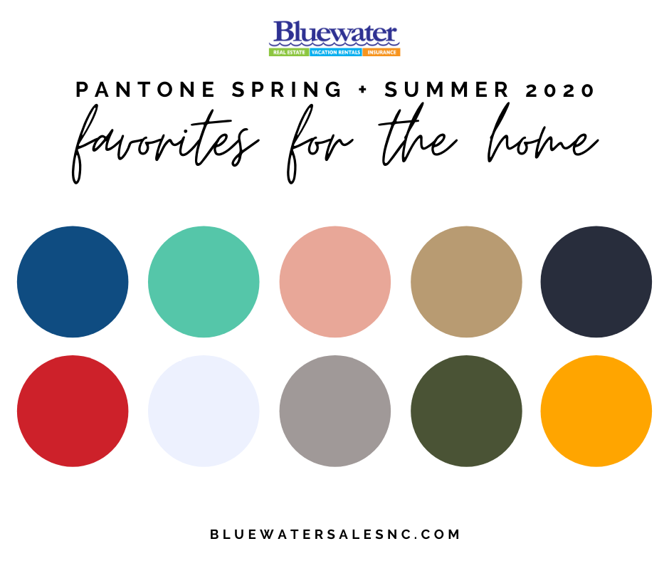 Spring & Summer 2020 Pantone Colors to Incorporate into Your Home