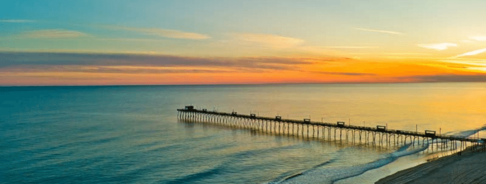 fishing off the pier on the crystal coast