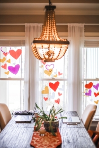 COVID Hearts on windows for essential workers