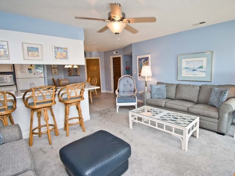 Photo of the living room inside one of our Pebble Beach condos